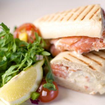 Scottish salmon sandwiches
