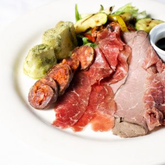 Mixed locally cured meat platter