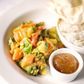 Delicious vegetable curry