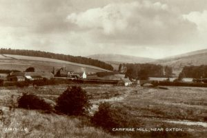 Carfraemill set within the rolling border hills